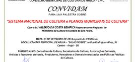 Sistema Nacional De Cultura E Planos Municipais De Cultura – Arujá (SP)